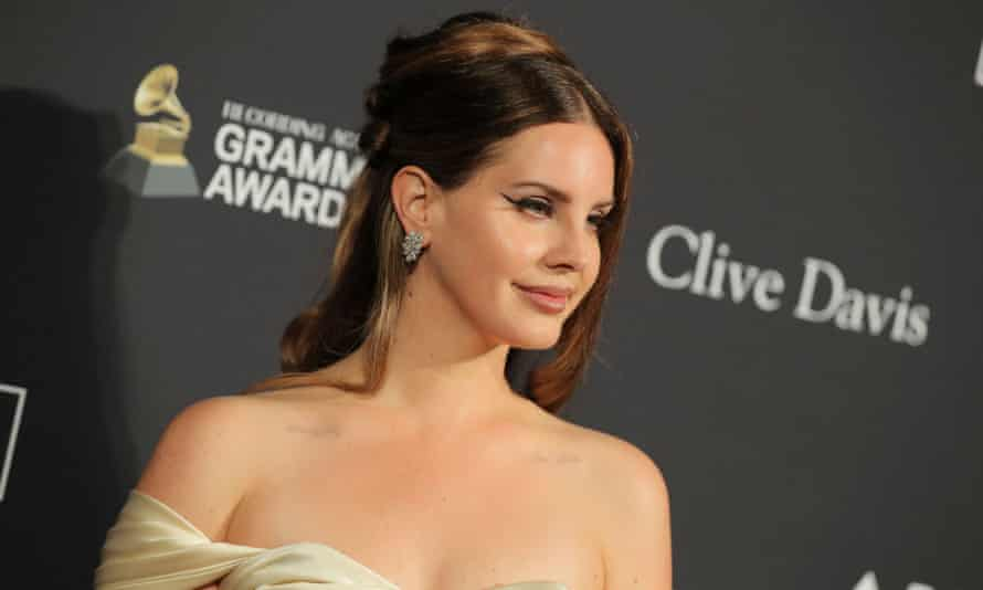 'I'm not not a feminist' ... Lana Del Rey at the pre-Grammy gala, Los Angeles, 25 January 2020.