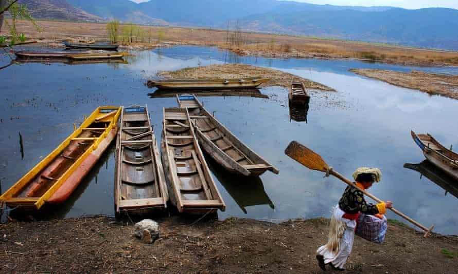 Lugu Lake in Sichuan province, southwest China.