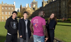 The founders of the campagin group Our Future Our Choice, at Westminster