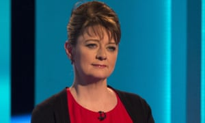 Leanne Wood during a televised leaders' debate before last year's general election
