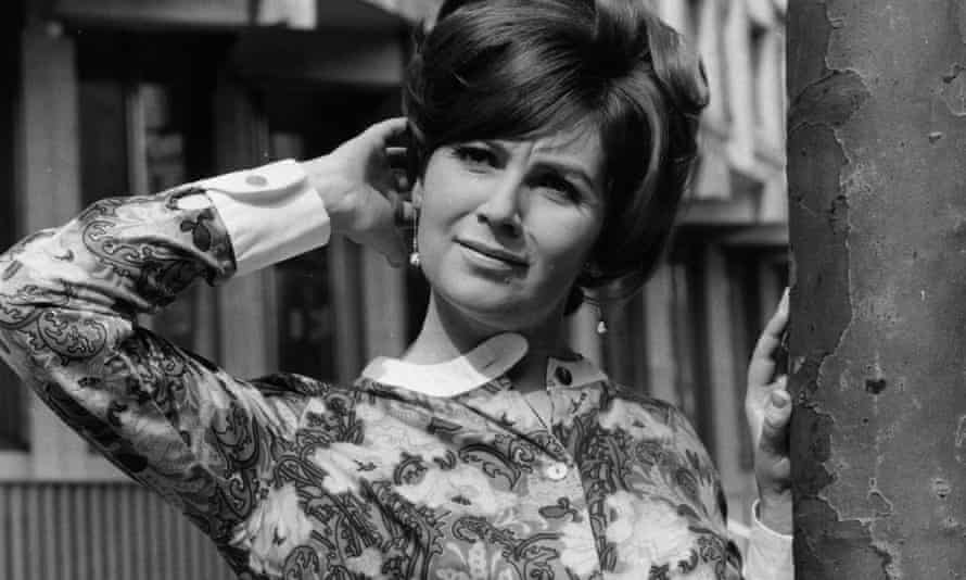 Edna O'Brien in April 1966, when she was being portrayed in the press as a party girl.