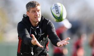 Ronan O'Gara during Crusaders training in Christchurch where he helped the club retain the Super Rugby title last season.