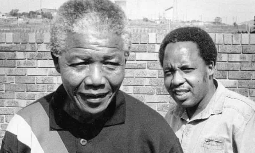 Chris Hani, right, and Nelson Mandela in 1990.