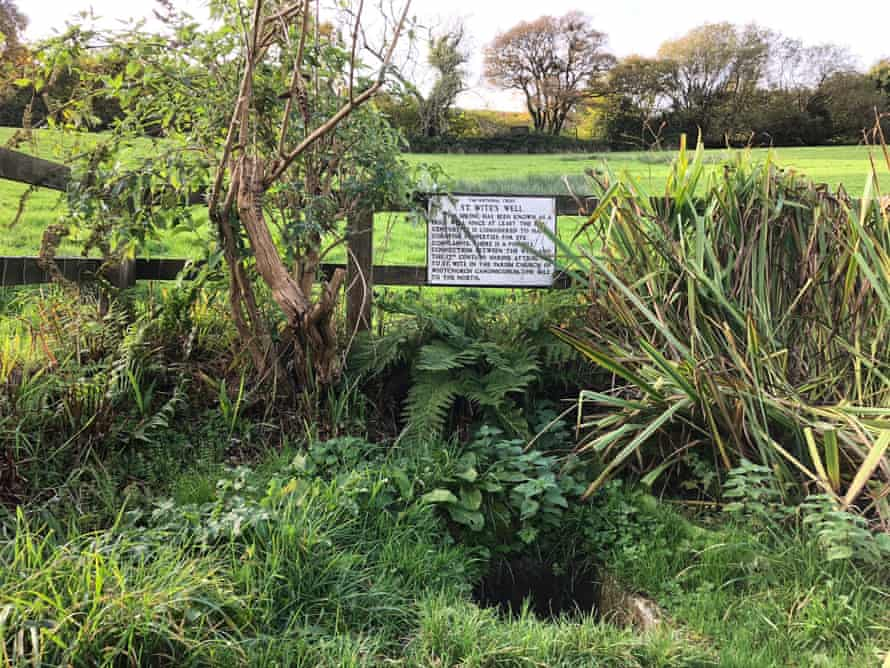 St Wite's Well on the National Trust's Golden Cap estate in Dorset
