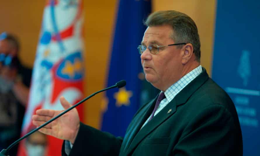 Lithuania's foreign minister, Linas Linkevičius: 'In Belarus they are European citizens, and who can speak for them if not us?'