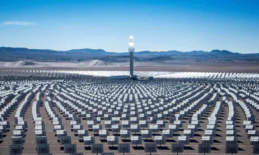 The Crescent Dunes solar reserve in Nevada.