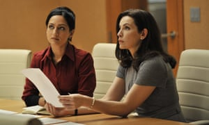 Rift rumours … Archie Panjabi and Margulies in The Good Wife.