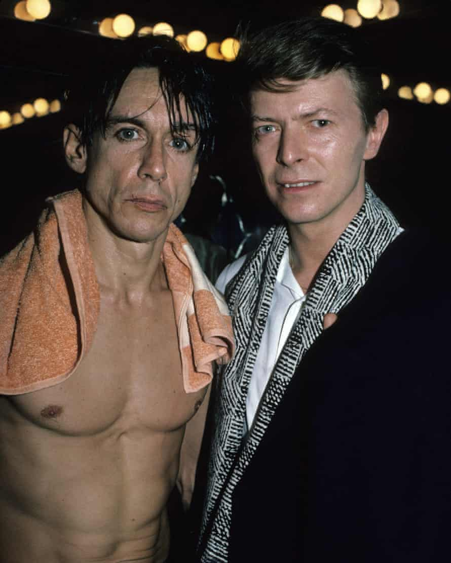 Iggy Pop and David Bowie in 1986.