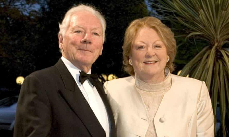 Gay Byrne with his wife Kathleen in 2004.