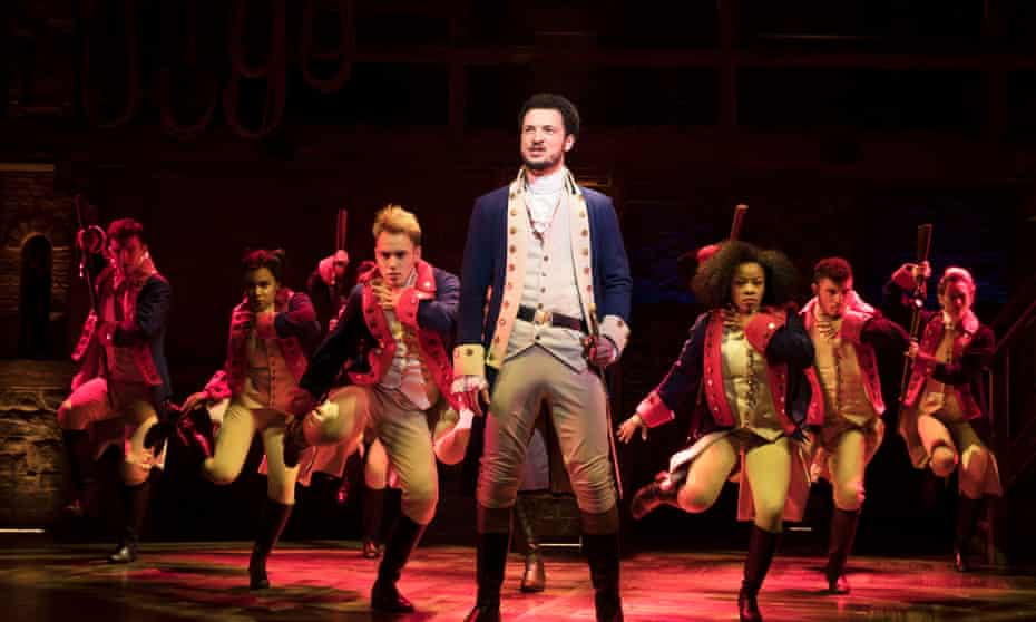 'Son of a whore and a Scotsman' … Jamael Westman as Alexander Hamilton with the West End cast in Hamilton.