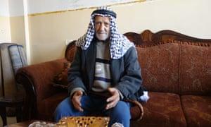 Ibrahim Mahmoud Saleh at home.