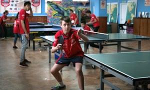 Players at Brighton table tennis club.