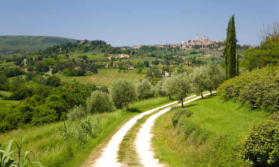 San Gimignano, Tuscany, Italy; the vista is little changed, but the 'Italian job' is very different to how it was 30 years ago