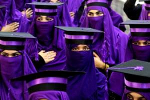 Kandahar, Afghanistan: Students attend a graduation ceremony