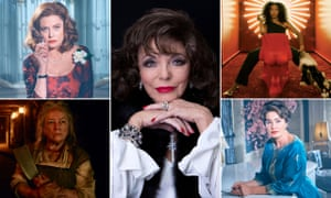 Susan Sarandon, Joan Collins, Angela Bassett, Jessica Lange and Kathy Bates in American Horror Story