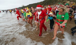 Thousands of swimmers around the country choose to take an icy dip, many of them for charity.