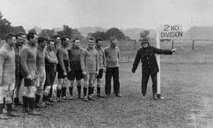 10th August 1926: Plymouth Argyle trainer Tommey Haynes as a points duty policeman directing the way to promotion, but again it wasn't to be.