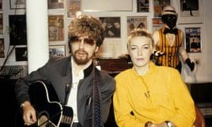 Dave Stewart with Annie Lennox in 1983