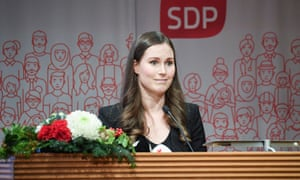 Sanna Marin attends a SDP party event in Helsinki, Finland