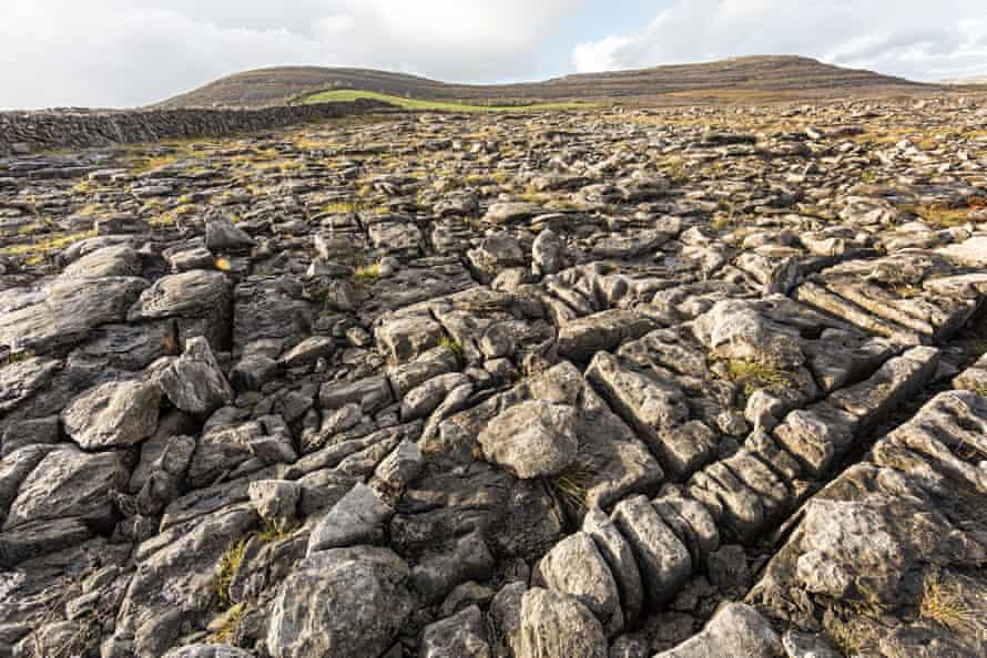 Liimestone pavement on the Burren, County Clare, Ireland.