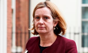 Amber Rudd leaves 10 Downing street after attending a National Security Council meeting in London