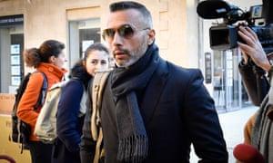 Franck Colin, a former bodyguard turned businessman, arrives at court in Aix-en-Provence