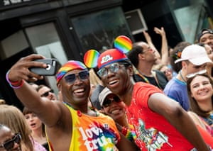 Men at New York's pride march