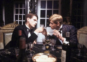 Charles Ryder (Jeremy Irons) and Sebastian Flyte (Anthony Andrews) in the 1981 TV version of Brideshead Revisited.