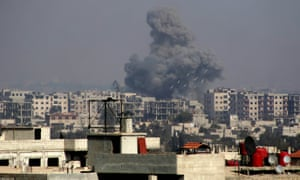 The Assad regime continues to attack rebel-held areas in eastern Ghouta, Damascus.