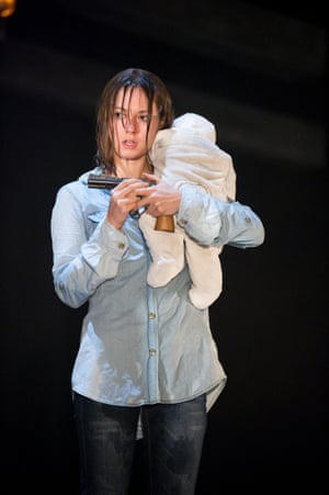Lydia Wilson as Cate in Blasted at the Lyric Hammersmith, London, in October 2010