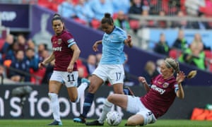 Nikita Parris in action for Manchester City in this year's FA Cup final against West Ham.