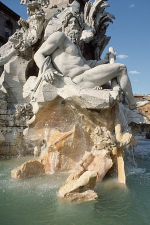 The Fountain of the Four Rivers in Rome