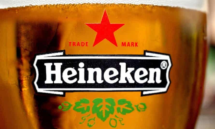 A glass of Heineken beer