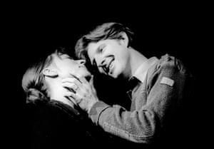 Saskia Reeves as Regan and Adrian Dunbar as Edmund in King Lear