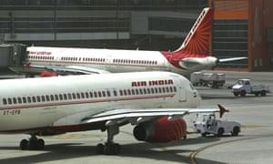 Air India planes in Delhi
