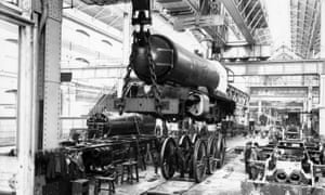 The King George V under construction