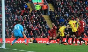 A Premier League match at Anfield