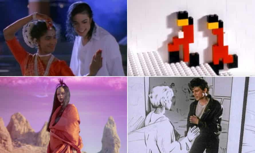 Michael Jackson's Black or White, A-Ha's Take On Me, The White Stripes' Fell In Love With A Girl and Rihanna's Sledgehammer.