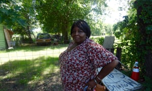 Demalda Newsome on her farm in north Tulsa.