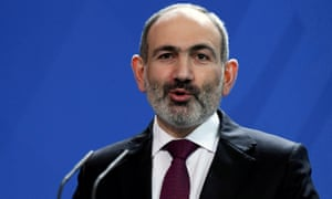 Armenia's prime minister Nikol Pashinyan at the Chancellery in Berlin, Germany, February 13, 2020. REUTERS/Annegret Hilse/File Photo
