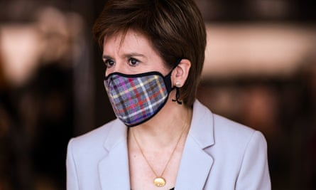 Masked Nicola Sturgeon