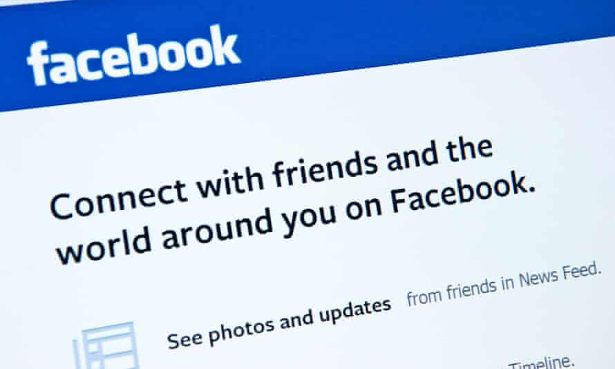 """facebook page on a screen with the words """"connect with friends and the world around you on facebook"""""""