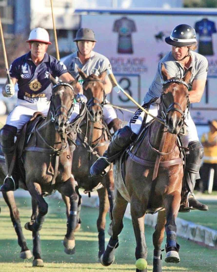 Callum Maclachlan (centre), Lucas Rogers (left) and Kelvin Johnson (right) pictured at Adelaide 2014 polo event.