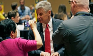 Libertarian party presidential candidate Gary Johnson attends the National Convention in Orlando.