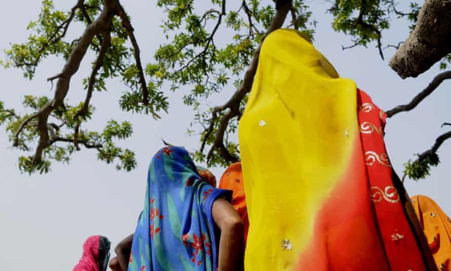 The mango tree in Katra Sadatganj, Uttar Pradesh, where the two victims were found in June 2014.