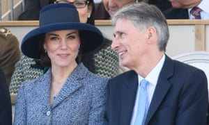Philip Hammond with the Duchess of Cambridge