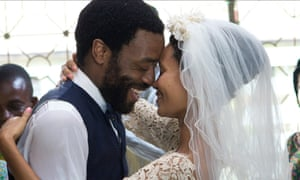Chiwetel Ejiofor and Thandie Newton as Odenigbo and Olanna in the 2013 film of Half of a Yellow Sun.