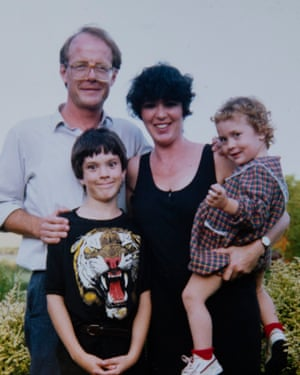 Emma Cottle with her parents and brother in 1992
