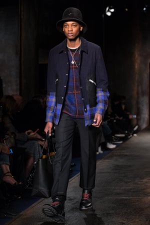 On the catwalk at the Coach show, day two of London Collections: Men.