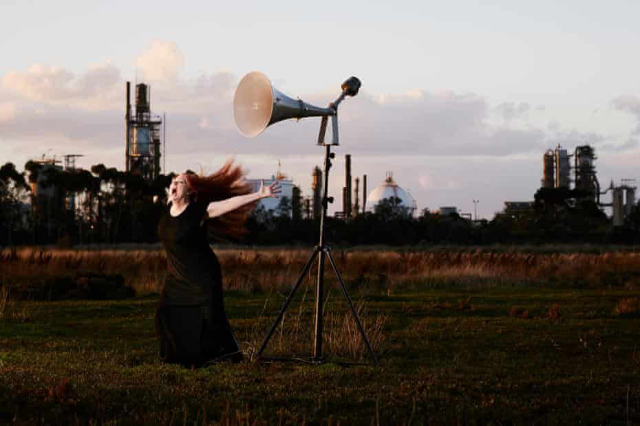 Carolyn Connors sings Siren Song in a promotional shot for Dark Mofo